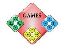 Símbolo dos jogos video Imagem de Stock