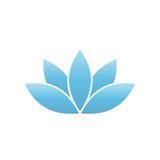 Símbolo dos lótus azuis Elemento do projeto do tema dos termas e do bem-estar Ilustração do vetor Fotografia de Stock Royalty Free