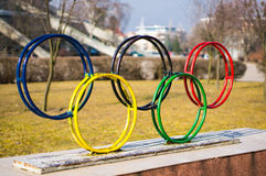 Símbolo dos Olympics fotografia de stock