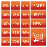 Símbolo dos por cento Imagens de Stock