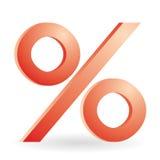Símbolo dos por cento ilustração royalty free