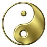 símbolo dourado de 3D Tao ilustração do vetor
