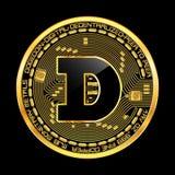 Símbolo dourado do dogecoin cripto da moeda Imagens de Stock Royalty Free