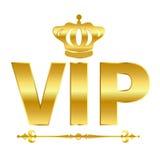Símbolo dourado do vetor do Vip Imagens de Stock Royalty Free