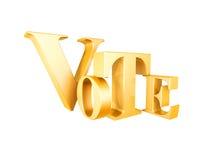 Símbolo dourado do voto Fotografia de Stock