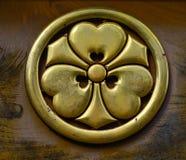 Símbolo dourado real japonês imagens de stock
