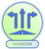Símbolo e ícone da navegação Imagens de Stock Royalty Free