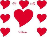 Símbolo e texto do coração Imagens de Stock Royalty Free
