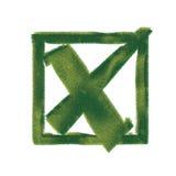 Símbolo ecológico da rejeição Foto de Stock Royalty Free