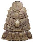 Símbolo egipcio antiguo con los escarabajos Imágenes de archivo libres de regalías