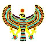 Símbolo egipcio del halcón Fotografía de archivo libre de regalías