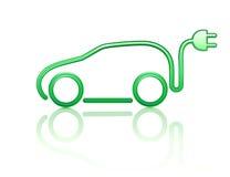 Símbolo eléctrico del coche