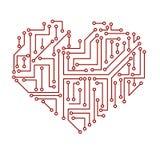 Símbolo eléctrico impreso eps10 del corazón de la placa de circuito libre illustration