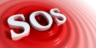 Símbolo el SOS Imagenes de archivo