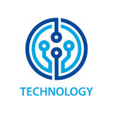 Símbolo electrónico de la tecnología de la placa de circuito Fotos de archivo libres de regalías