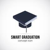 Símbolo elegante del icono del concepto del vector de la graduación o stock de ilustración