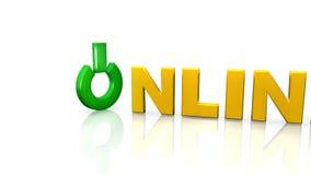 símbolo en línea 3d ilustración del vector
