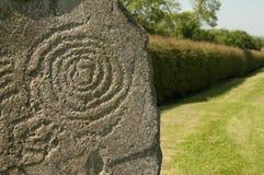 Símbolo en Newgrange, Irlanda Fotos de archivo