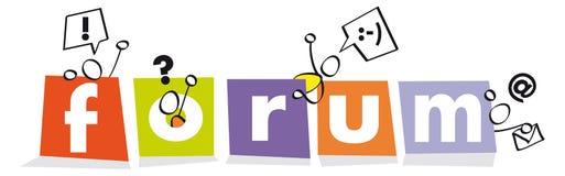 Símbolo engraçado para um fórum Imagens de Stock