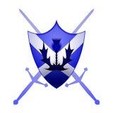Símbolo escocés de la armería stock de ilustración