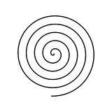 Símbolo espiral negro fino Elemento plano simple del diseño del vector libre illustration