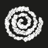 Símbolo espiral pintado a mano con tiza ilustración del vector
