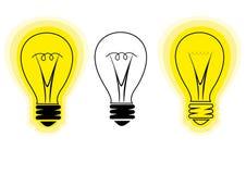 Símbolo estilizado de la bombilla de la nueva idea Fotografía de archivo