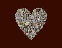 Símbolo estilizado do coração Imagens de Stock