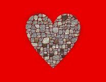 Símbolo estilizado do coração Fotos de Stock