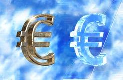 Símbolo euro Imagen de archivo libre de regalías
