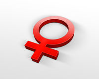 Símbolo fêmea ilustração royalty free