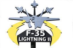 Símbolo F-35 imagem de stock