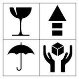 Símbolo frágil ilustración del vector