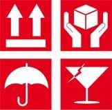Símbolo frágil ilustração do vetor
