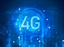 símbolo 4G no fundo digital Fotografia de Stock