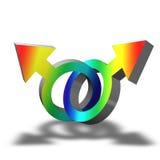 Símbolo gay ilustración del vector