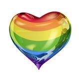 Símbolo gay en forma de corazón libre illustration