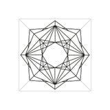 Símbolo geométrico abstrato isolado no fundo branco Imagem de Stock