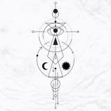 Símbolo geométrico moderno da alquimia Fotografia de Stock Royalty Free