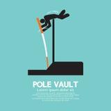 Símbolo gráfico de los atletas del salto con pértiga Foto de archivo libre de regalías
