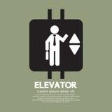 Símbolo gráfico del elevador Imagen de archivo libre de regalías