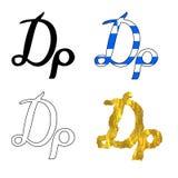 Símbolo griego del dracma Foto de archivo