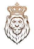 Símbolo heráldico del león del rey Imagen de archivo libre de regalías