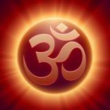 Símbolo hindú de OM del vector Imágenes de archivo libres de regalías