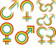 Símbolo homosexual o lesbiano libre illustration