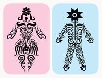 Símbolo humano decorativo Fotos de archivo