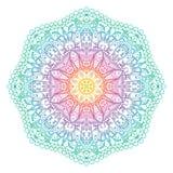 Símbolo indiano radial abstrato do vetor Imagens de Stock
