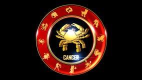 Símbolo indio del zodiaco del cáncer ilustración del vector
