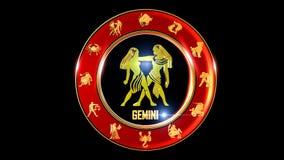 Símbolo indio del zodiaco de los géminis stock de ilustración