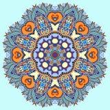 Símbolo indio espiritual decorativo del círculo del loto Imagen de archivo libre de regalías